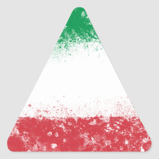 Flag of Italy Triangle Sticker