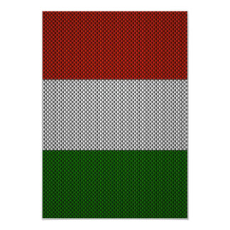 Flag of Italy with Carbon Fiber Effect Custom Announcement