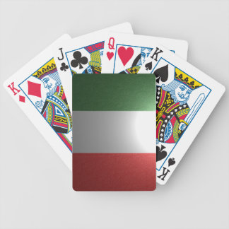 Flag of Italy with metallic effect Bicycle Playing Cards