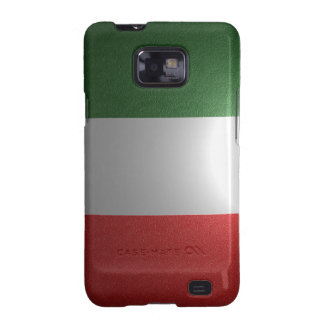 Flag of Italy with metallic effect Galaxy SII Case
