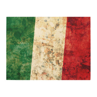 Flag of Italy Wood Print