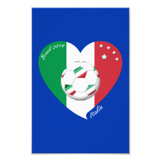 Flag of ITALY world-wide SOCCER champions 2014 Photograph