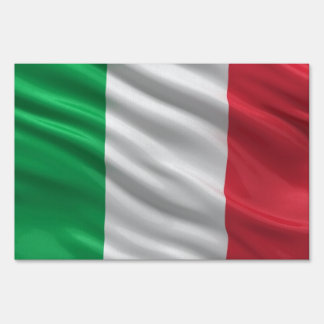 Flag of Italy Yard Sign