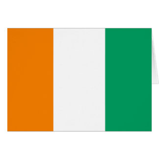 FLAG OF IVORY COAST CARD