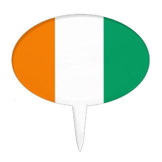 Flag of Ivory Coast - Drapeau de la Côte d'Ivoire Cake Topper