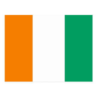 FLAG OF IVORY COAST POSTCARD