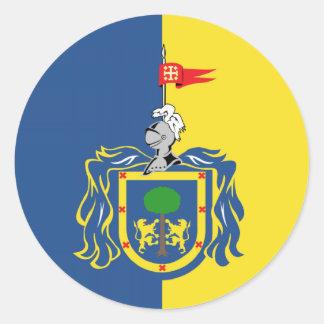Flag of Jalisco Classic Round Sticker