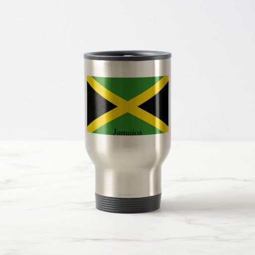 Flag of Jamaica 15 Oz Stainless Steel Travel Mug