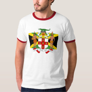 Flag of Jamaica Coat of Arms Men's Ringer T T-Shirt