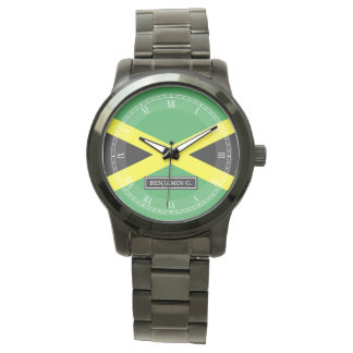 Flag of Jamaica Custom Name Watch