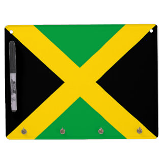 Flag of Jamaica Dry Erase Board With Keychain Holder