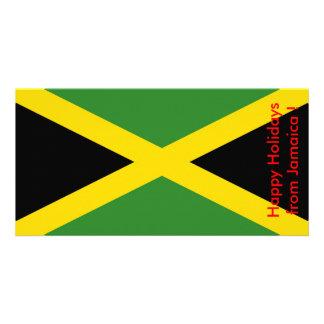 Flag of Jamaica, Happy Holidays from Jamaica Card