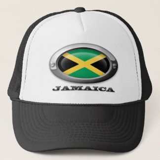 Flag of Jamaica in Steel Frame Trucker Hat