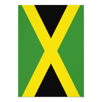 Flag of Jamaica 5x7 Paper Invitation Card