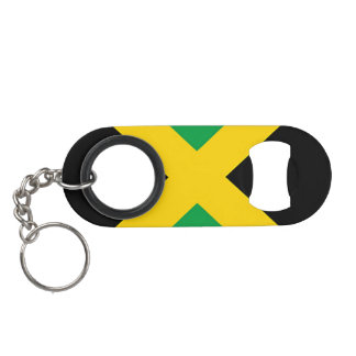 Flag of Jamaica Keychain Bottle Opener