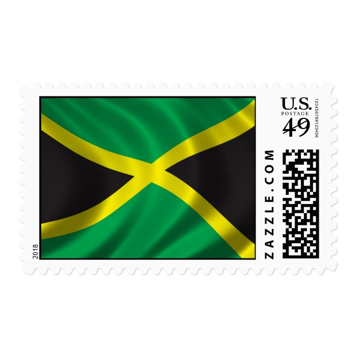 Flag of Jamaica Postage Stamp