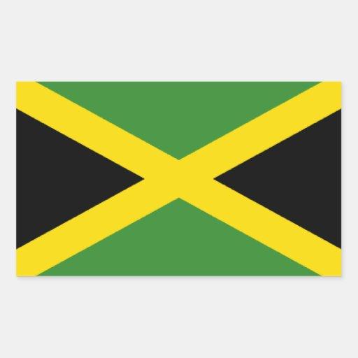 Flag of Jamaica Rectangular Sticker
