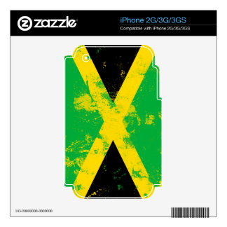 Flag of Jamaica Decal For The iPhone 3