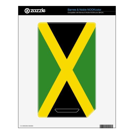 Flag of Jamaica Skin For NOOK Color