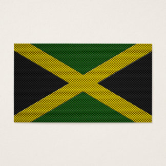 Flag of Jamaica with Carbon Fiber Effect Business Card