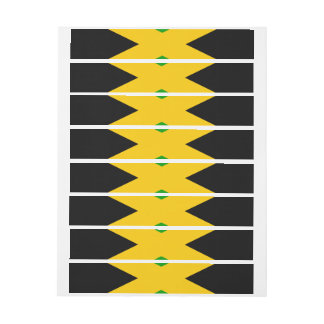 Flag of Jamaica Wrap Around Address Label