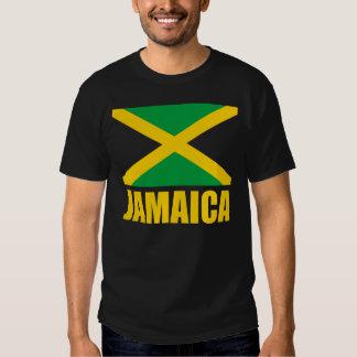 Flag Of Jamaica Yellow Text Black Tshirts