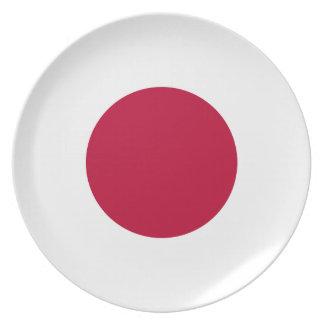 Flag of Japan - 日章旗 - 日の丸 - 日本の国旗 Melamine Plate