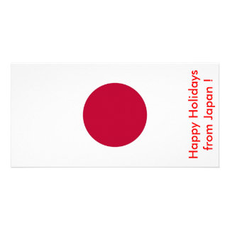 Flag of Japan Happy Holidays from Japan Photo Card Template