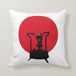 Flag of Japan | Vintage Pressure Stove Throw Pillow