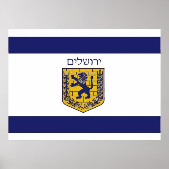 Flag of Jerusalem Poster