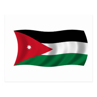 Flag of Jordan Postcard