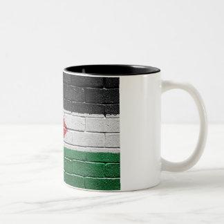 Flag of Jordan Two-Tone Coffee Mug