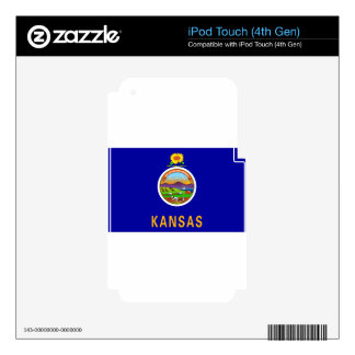 Flag_of_Kansas Skins For iPod Touch 4G