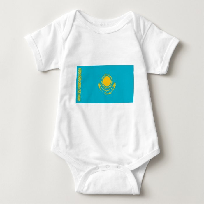 Flag of Kazakhstan Baby Bodysuit