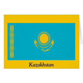 Flag of Kazakhstan Greeting Card