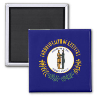 Flag of Kentucky 2 Inch Square Magnet