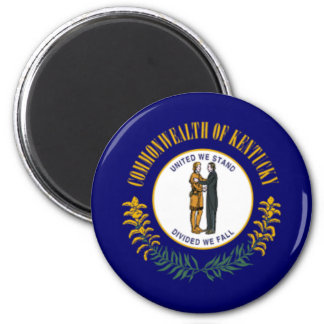 Flag of Kentucky 2 Inch Round Magnet