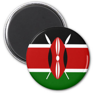 Flag of Kenya 2 Inch Round Magnet