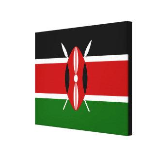 Flag of Kenya Africa Stretched Canvas Print