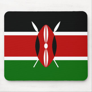 Flag of Kenya Africa Mouse Pad