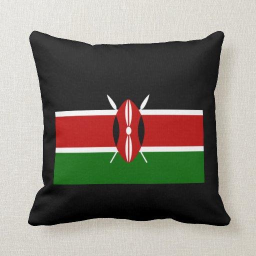 Flag of Kenya Africa Throw Pillows