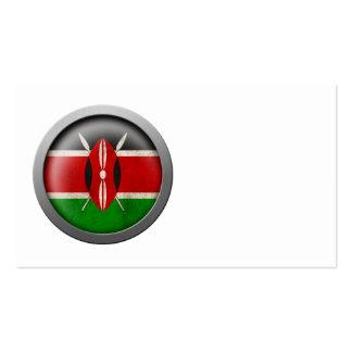 Flag of Kenya Disc Business Card