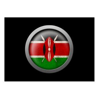Flag of Kenya Disc Large Business Card