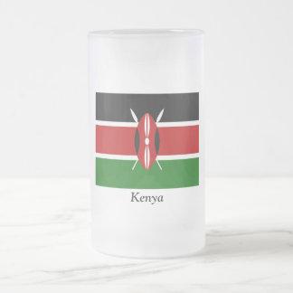 Flag of Kenya Frosted Glass Beer Mug