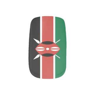 Flag of Kenya Minx Nail Wraps