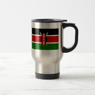 Flag of Kenya 15 Oz Stainless Steel Travel Mug