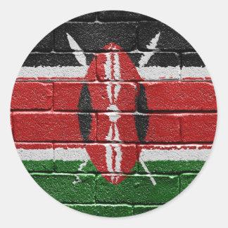 Flag of Kenya Round Stickers