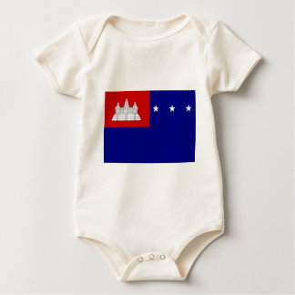 Flag of Khmer Republic (សាធារណរដ្ឋខ្មែរ) Baby Bodysuit