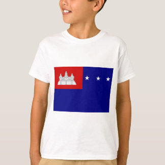 Flag of Khmer Republic (សាធារណរដ្ឋខ្មែរ) T-Shirt