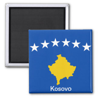 Flag of Kosovo 2 Inch Square Magnet